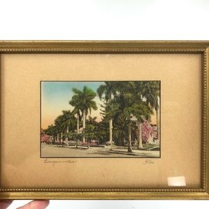 1930s E.G. Barnhill Framed Bougainvillea Florida